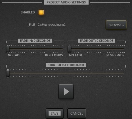 Audio track setting for Time-Lapse Tool