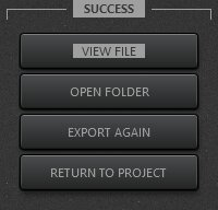 Time-Lapse Tool Export Video Sucessfull Completion View