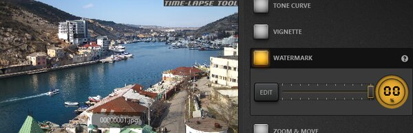 Time-Lapse Video Non-Transparent Watermark Effect Example