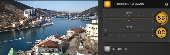 Time-Lapse Tool Instellingen overgangseffect