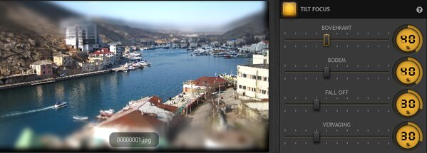 Time-Lapse Tool Focuseffect kantelen