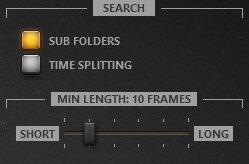Time-Lapse Tool Import Images Settings
