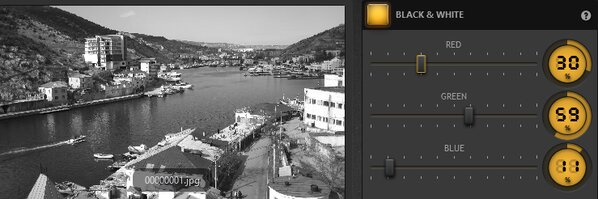Time-Lapse Tool Black and White Effect