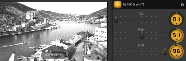 Time-Lapse Tool Black and White Effect Example