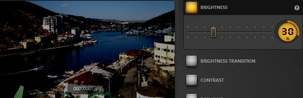 Time-Lapse Tool Brightness Effect Example
