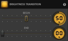 Time-Lapse Tool Brightness Transition Effect Settings