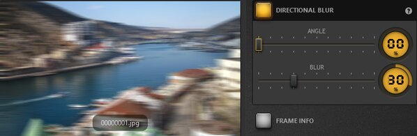 Time-Lapse Tool Directional Blur Effect