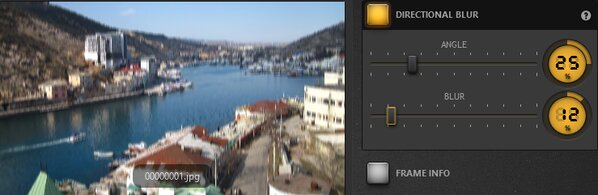 Time-Lapse Tool Directional Blur Effect Example