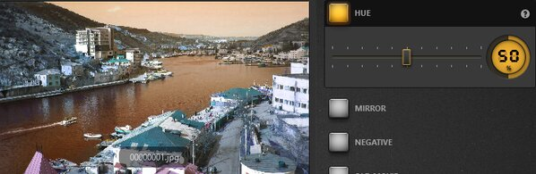 Time-Lapse Tool Hue Effect Example