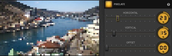 Time-Lapse Tool Pixelate Effect