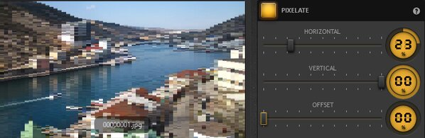 Time-Lapse Tool Pixelate Effect Example