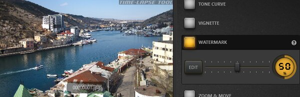 Time-Lapse Tool Watermark Effect Example