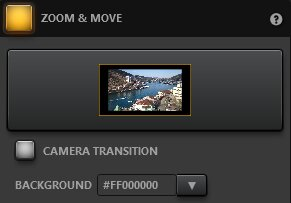 Time-Lapse Tool Zoom And Move Effect Settings