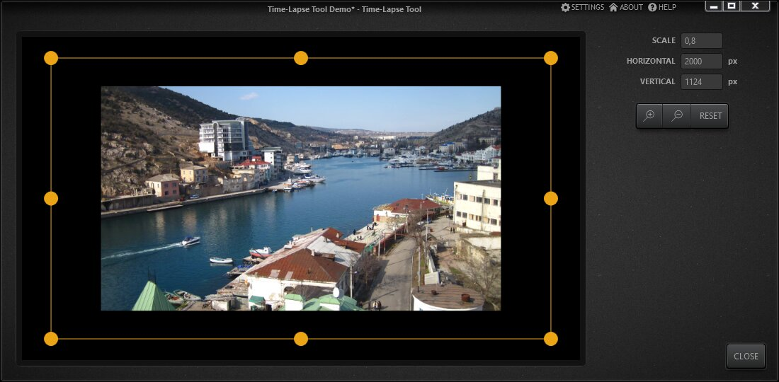 Time-Lapse Tool Zoom And Move Editor